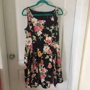 Ralph Lauren Fit & Flare Sleeveless Floral Dress